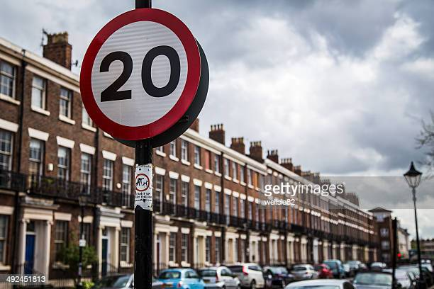 road sign in liverpool - merseyside stock pictures, royalty-free photos & images