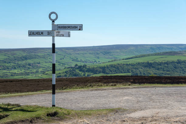 Road sign in the North York Moors national park, England