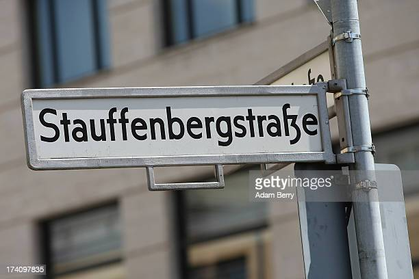A road sign indicating a street named after Claus Schenk Graf von Stauffenberg the primary planner of the 1944 assassination attempt on Adolf Hitler...