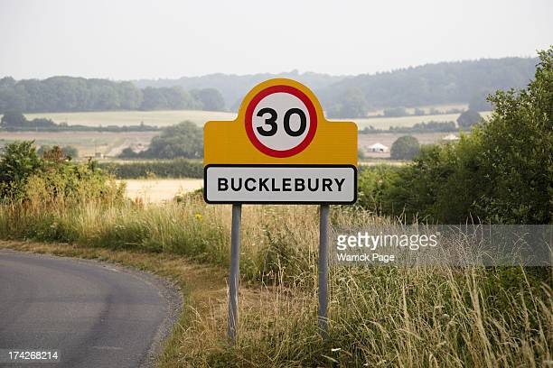 A road sign leading to the Duchess of Cambridge's hometown of Bucklebury on July 23 2013 in Bucklebury England Catherine Duchess of Cambridge gave...