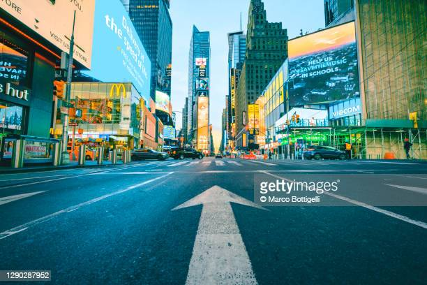 road sign leading to times square, new york city - manhattan new york city stock pictures, royalty-free photos & images
