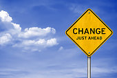Road sign message - Change just ahead