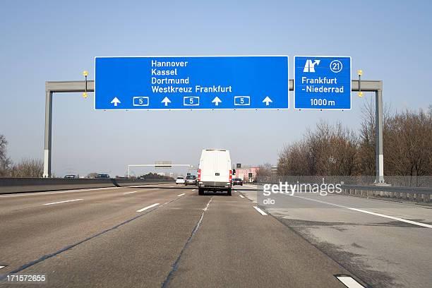 Road sign auf Deutsche autobahn A5