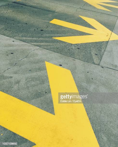 road sign on street - arrow stock pictures, royalty-free photos & images