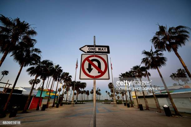 Road sign on Venice Beach