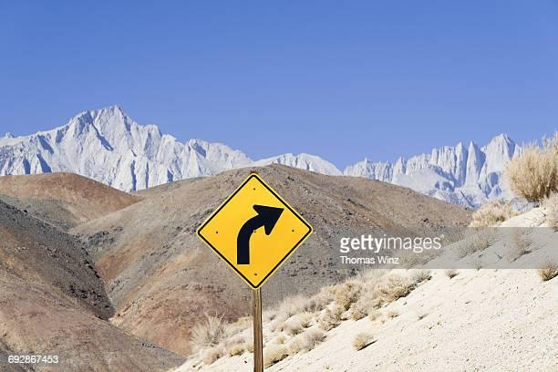 Road sign ,(Curve)
