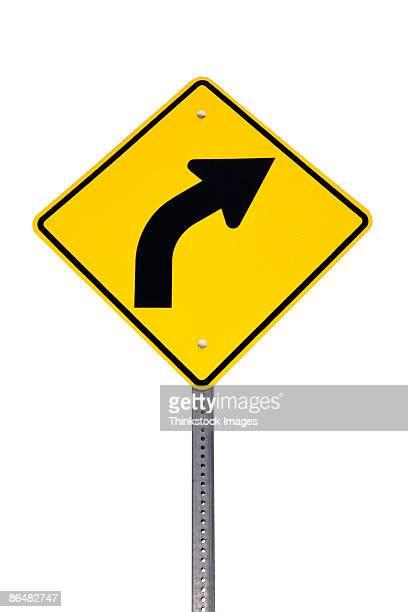 road sign - curved arrows - fotografias e filmes do acervo