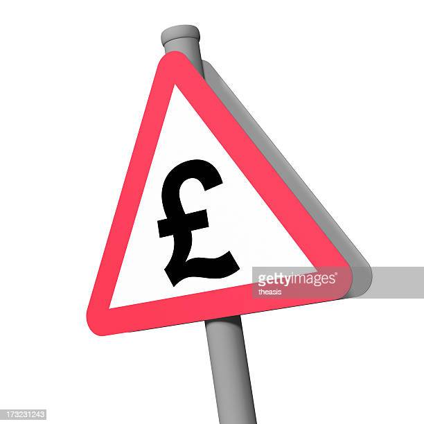 road sign - pound - theasis stock pictures, royalty-free photos & images