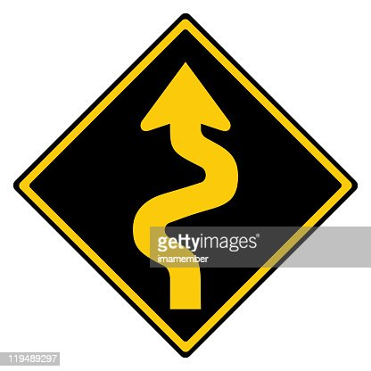 Winding road sign stock photo getty images keywords publicscrutiny Images