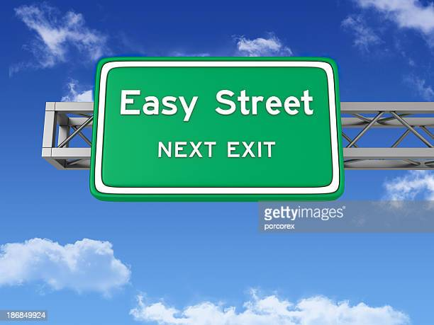 Road Sign with EASY STREET and Sky