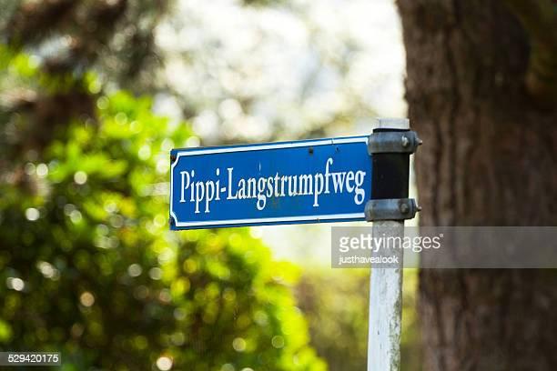 Schild mit Namen Pippi Langstrumpf
