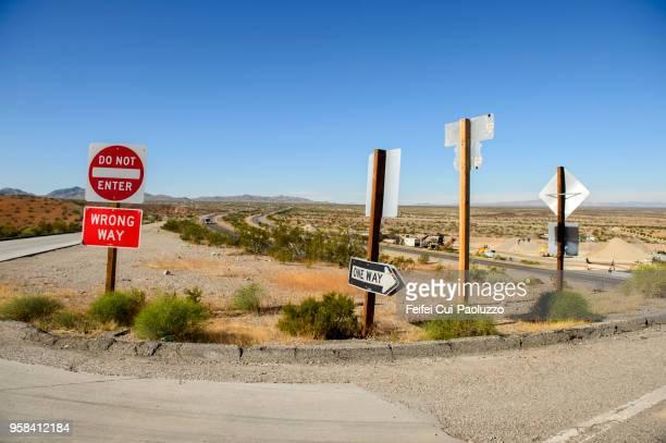 Road signs near Las Vegas, Nevada, USA