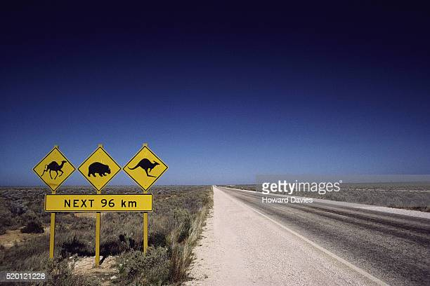 Road Signs on Nullarbor Plain