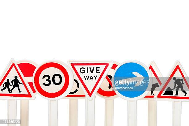 road signs - give way stock pictures, royalty-free photos & images