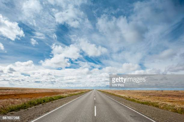 Road stretching into distance Patagonia Argentina