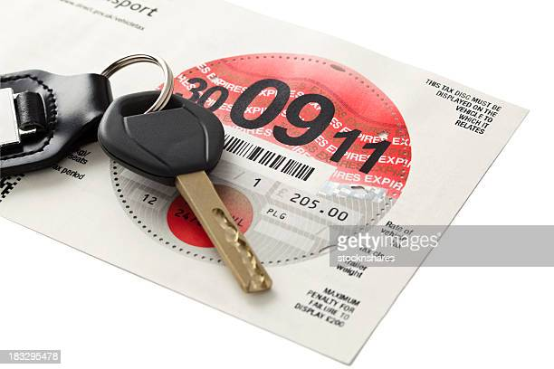 uk road tax - tax stock photos and pictures