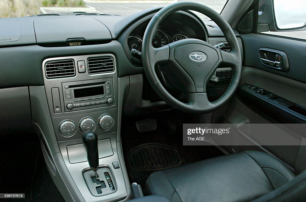 Subaru Forester Interior. 13 September 2005 THE AGE DRIVE Picture By REBECCA