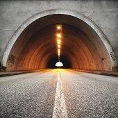 Road through a tunnel