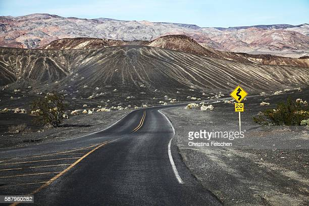 road through death valley, usa - christina felschen stock photos and pictures