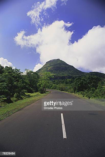 Road through Malshej Ghat, Maharashtra, India