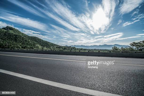 road through mountains, beijing, china - roadside stock pictures, royalty-free photos & images