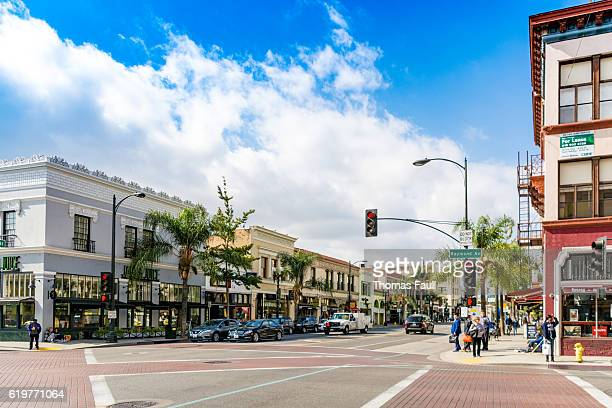 Road through Pasadena, Los Angeles, California
