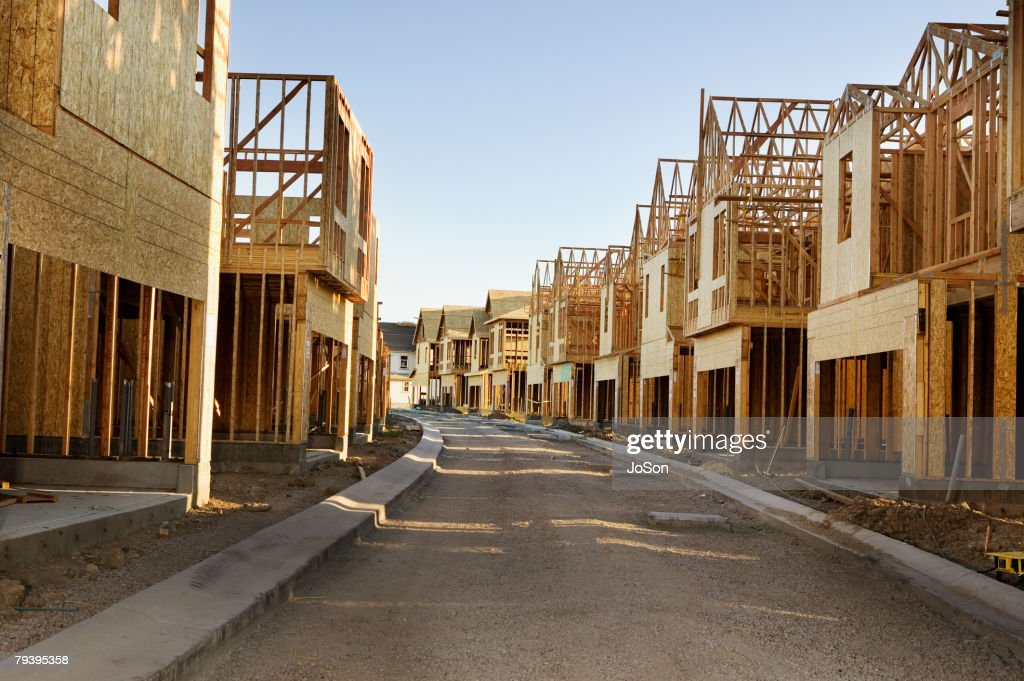 Road Through Residential Construction Site High-Res Stock ...
