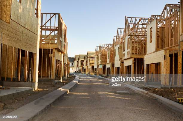 road through residential construction site - housing development stock pictures, royalty-free photos & images