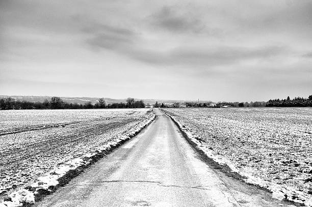 Road through snow landscape
