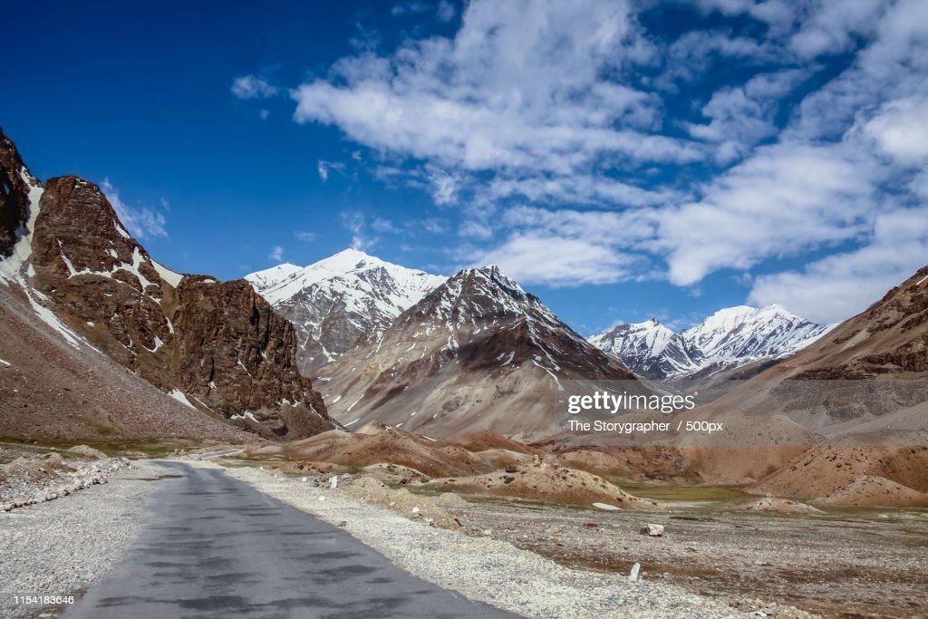Road Through The Mountains : Stock Photo