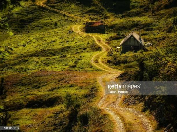 Road through the wally of shadows