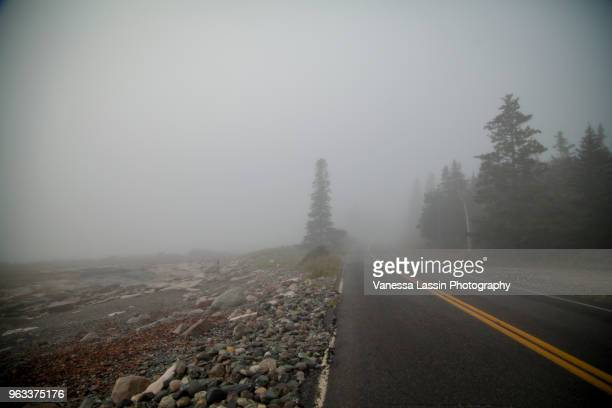 road to acadia - vanessa lassin stock pictures, royalty-free photos & images