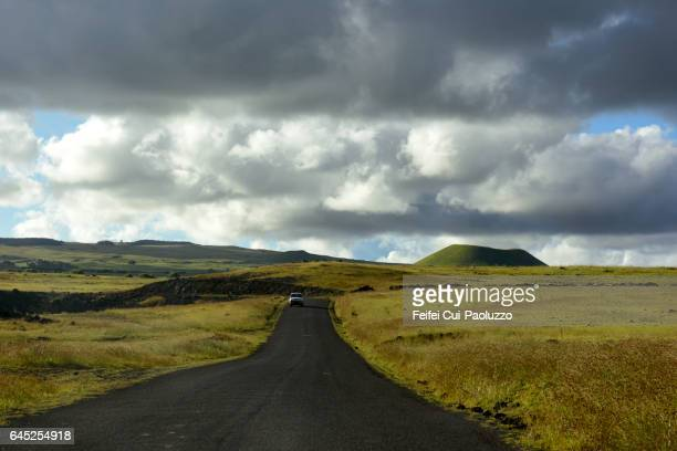 Road to Anakena in Rapa Nui National Park on Rapa Nui of Chile