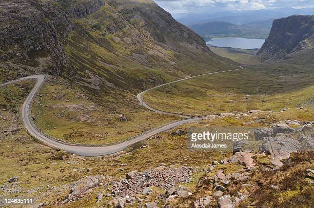road to applecross - wester ross stock pictures, royalty-free photos & images