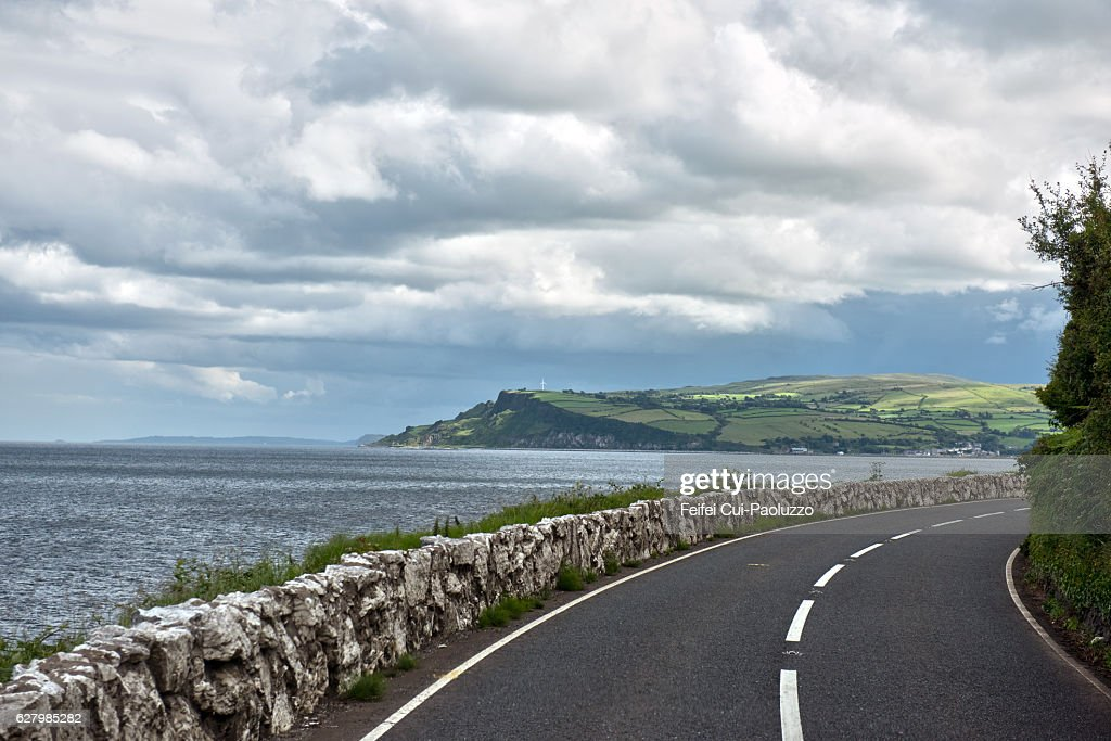 Road to Carnlough  in County Antrim, Northern Ireland : Stock Photo