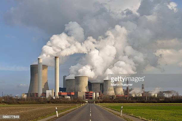 Road to coal fired power station Niederaussem