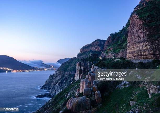 road to false bay - constantia stock pictures, royalty-free photos & images