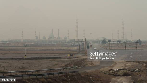 a road to jamkaran mosque in qom, northern iran - jamkaran mosque stock pictures, royalty-free photos & images