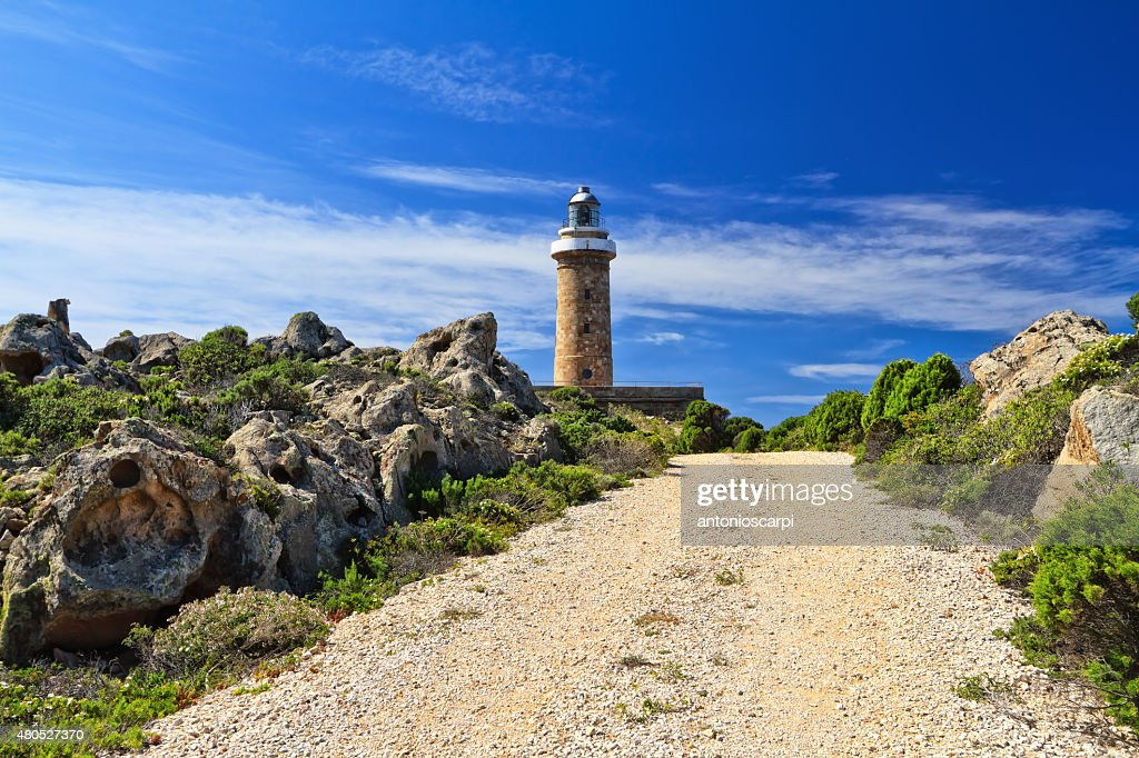 road zum lighthouse : Stock-Foto