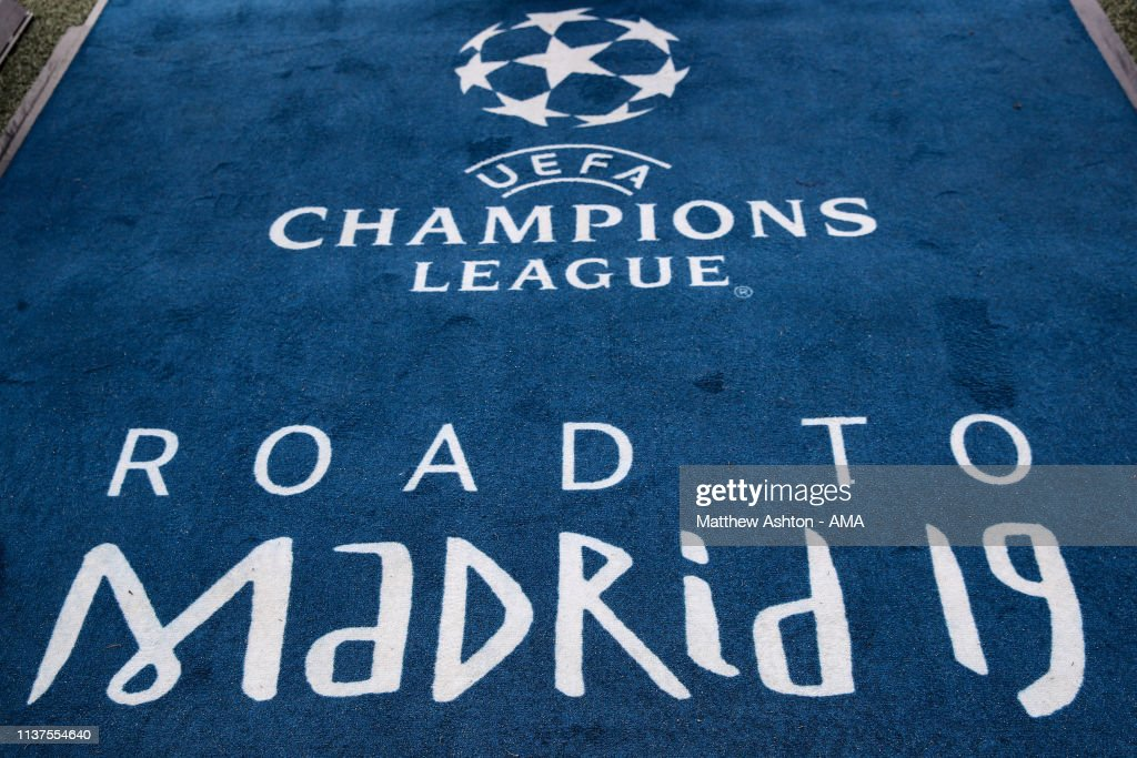 Road to Madrid 2019 branding prior to the UEFA Champions
