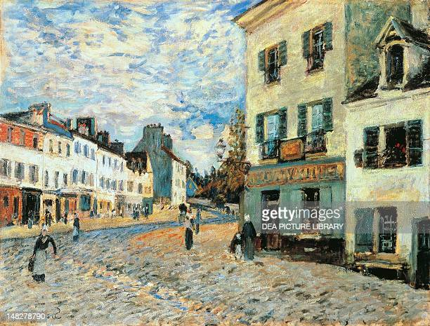Road to Marly by Alfred Sisley 50x65 cm Mannheim Städtische Kunsthalle