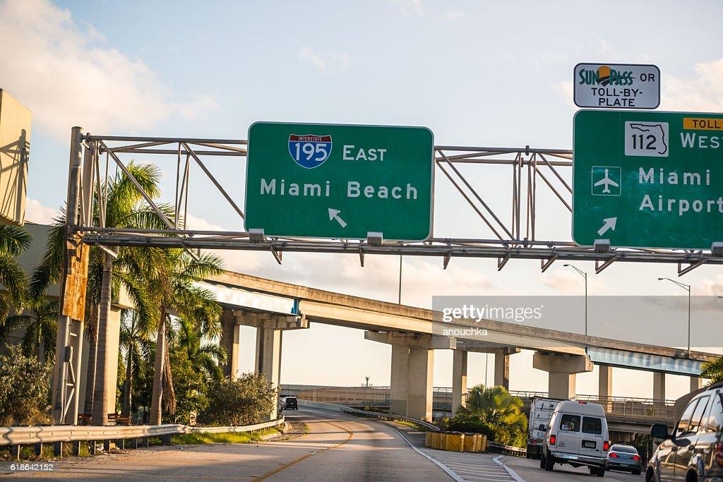 Road To Miami Beach Florida Usa Stock Photo - Getty Images