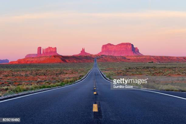 Road to Monument Valley at Sunrise