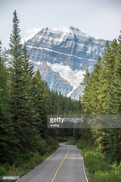Road to Mountain Edith Clavel in the Canadian Rocky Mountains