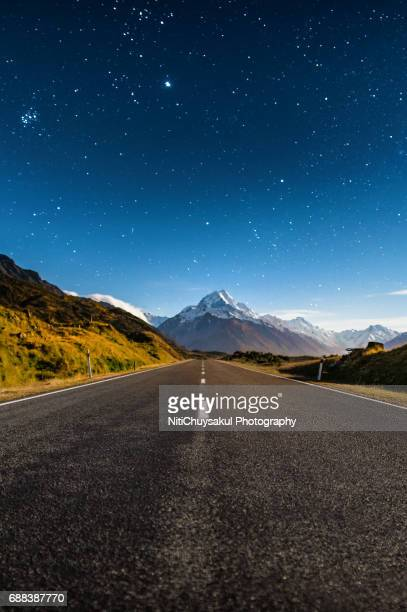 Road to Mt. Cook New Zealand