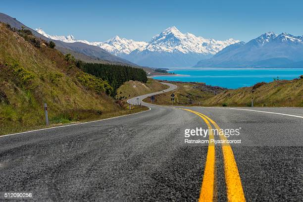 Road to mt. Cook, Newzealand