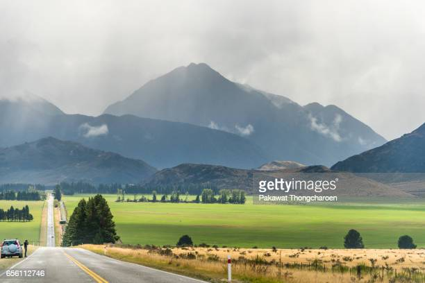 road to nature, south island, new zealand - karl lagerfield bildbanksfoton och bilder