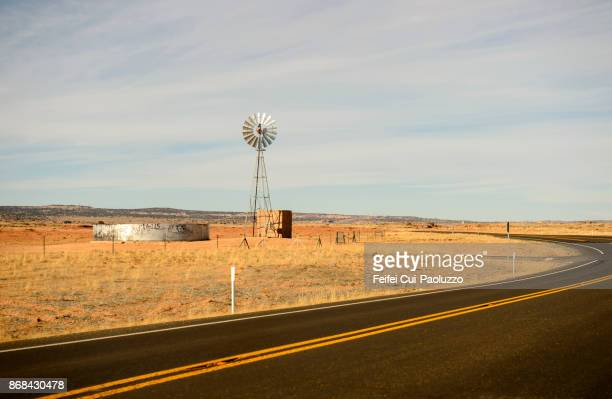 road to page, arizona, usa - american style windmill stock pictures, royalty-free photos & images
