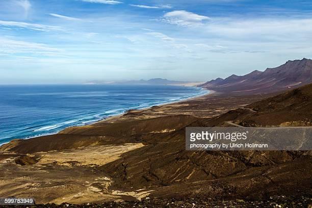 Road to Playa de Cofete, Fuerteventura, Spain