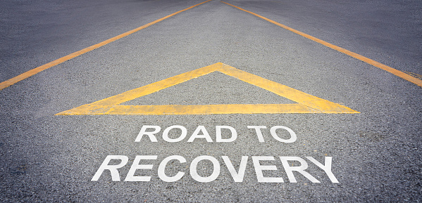 Road to recovery direction concept 578574774